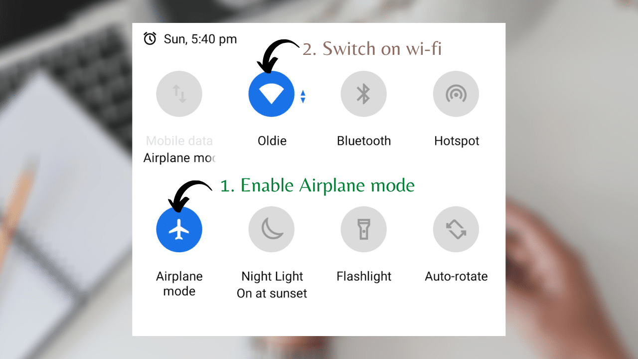 Airplane mode with wi-fi - Yoga with Ankush